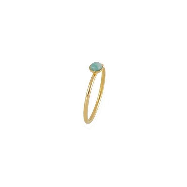 pépite bijoux,plaqué or,bague,léa,amazonite