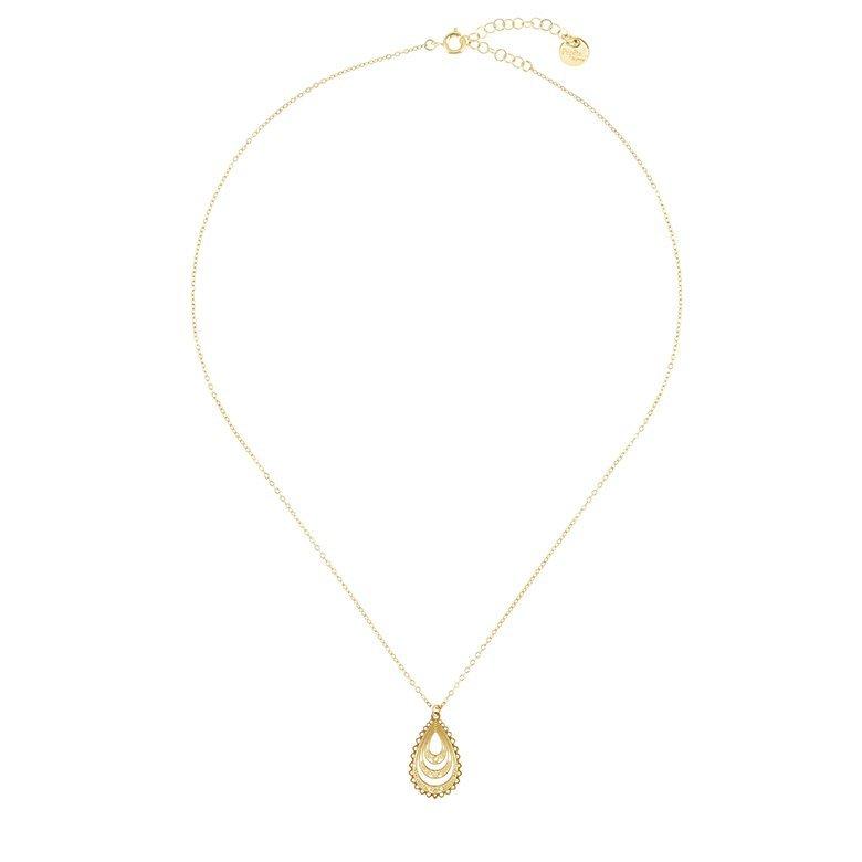 collier goutte, collier créateur, boutique créateur bijoux paris, or, bijoux en plaqué or,