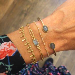 bracelet gipsy jonc lea jess pépite bijoux