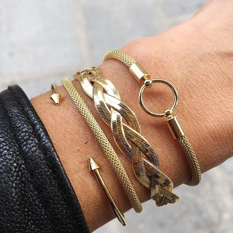 bracelet à pic, bracelet ajustable, bracelet jonc ouvert, jonc à pic, jonc ajustable, Jonc ouvert, spike