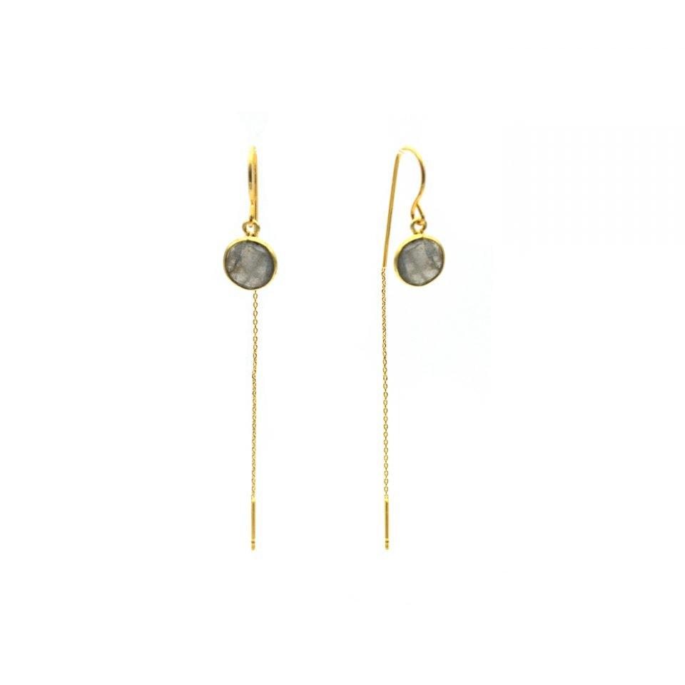 pepitebijoux,boucles d'oreilles,plaqué or,pierre sertie,labradorite