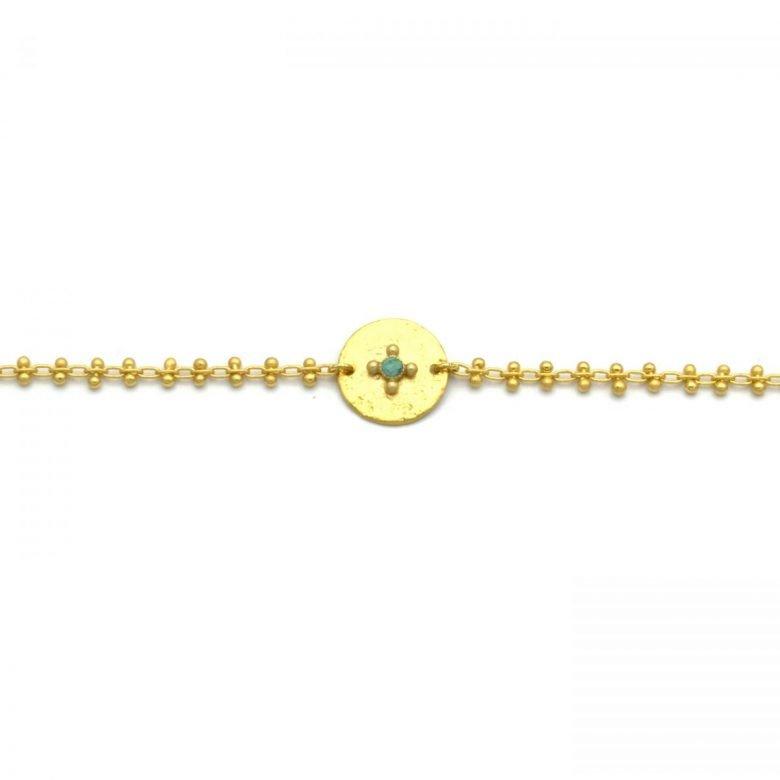 Aponi, bracelet en chaîne, or fin, made in paris, designer,