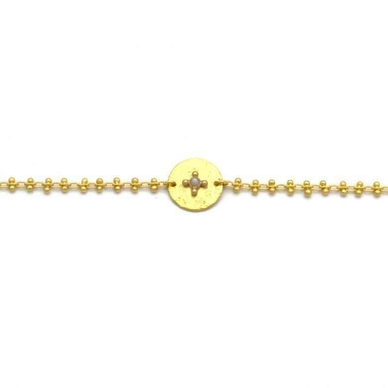Aponi, bracelet en chaîne, or fin, made in paris, designer, nacre
