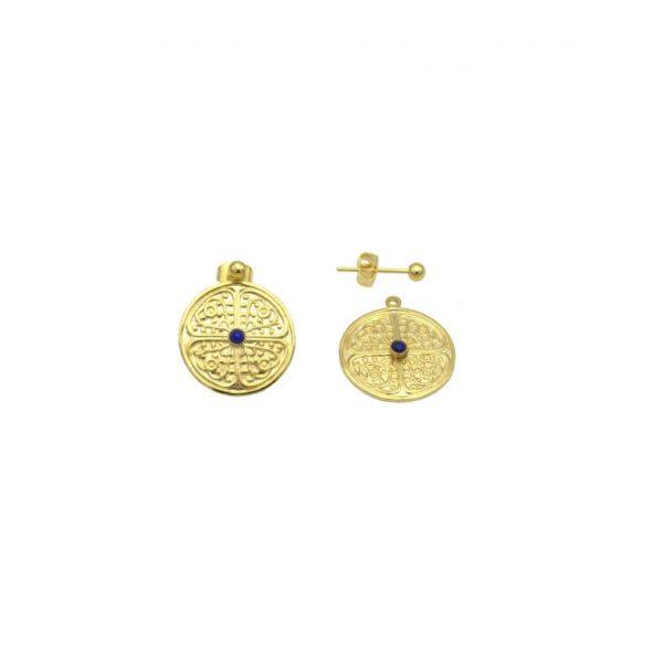 pepite bijoux,boucles d'oreilles,lapis lazuli,plaque or,clarisse