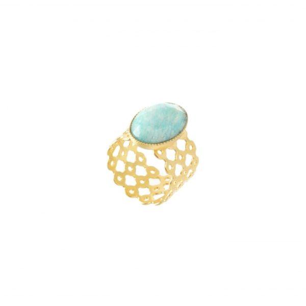 pépite bijoux,plaqué or,dentelle,amazonite