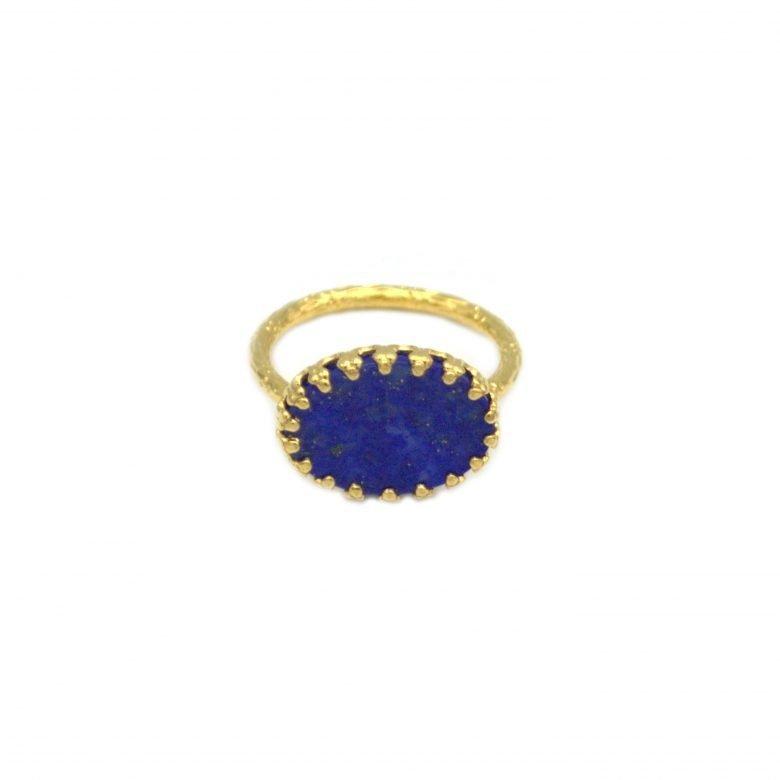 bague akira,lapis lazuli,pepitebijoux,plaquéor,pierre naturelles,pierres fines