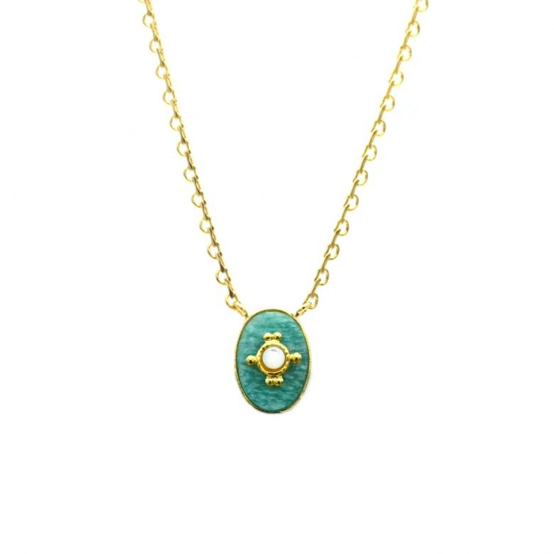 collier,amazonite,turquoise,nacre,rétro,pepitebijoux,plaquéor,24carats