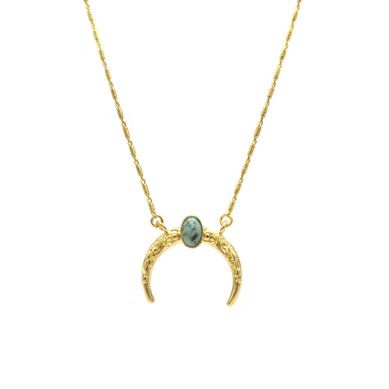 pépitebijoux,moon,collier,plaquéor,jaspe africain