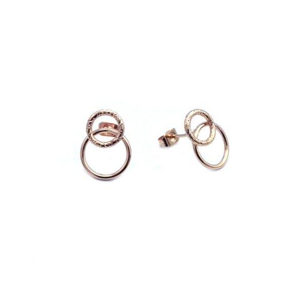 boucles d'oreilles,roxane,pepitebijoux,plaqué or rose