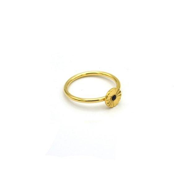 pépite bijoux,plaqué or,bague,soleil,onyx