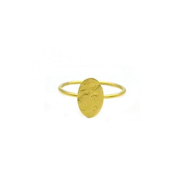 bague,satiné,plaqué or,plaque martelée,ina,pépitebijoux