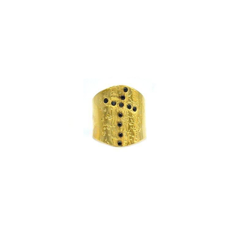 bague,plaqué or,pépite bijoux,spinelle