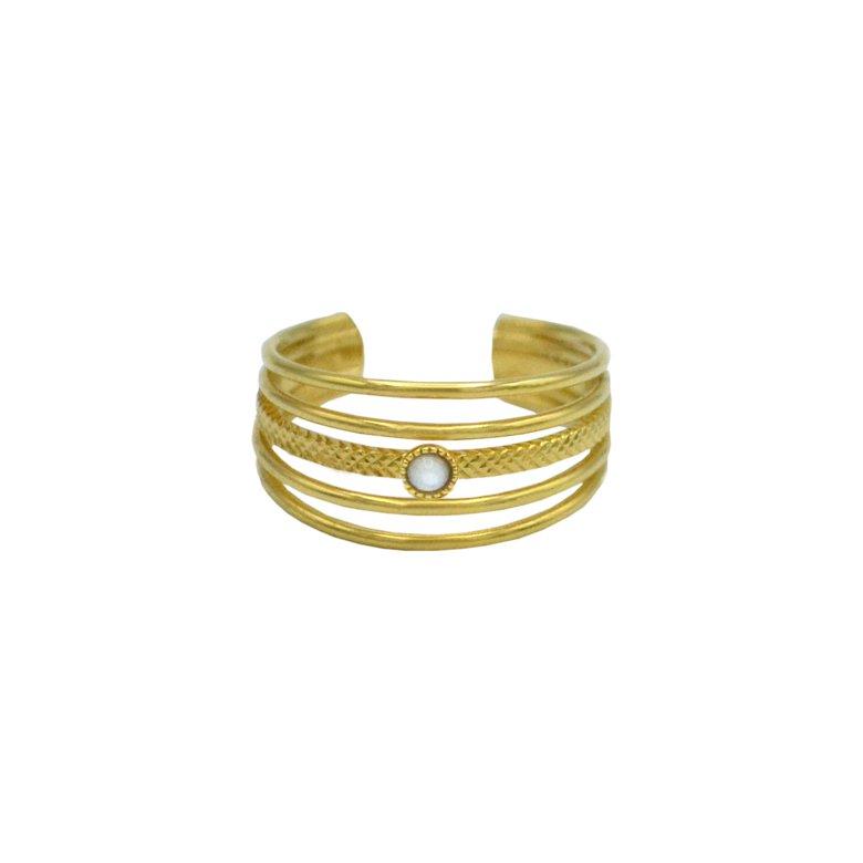 bague,plaqué or,pépite bijoux