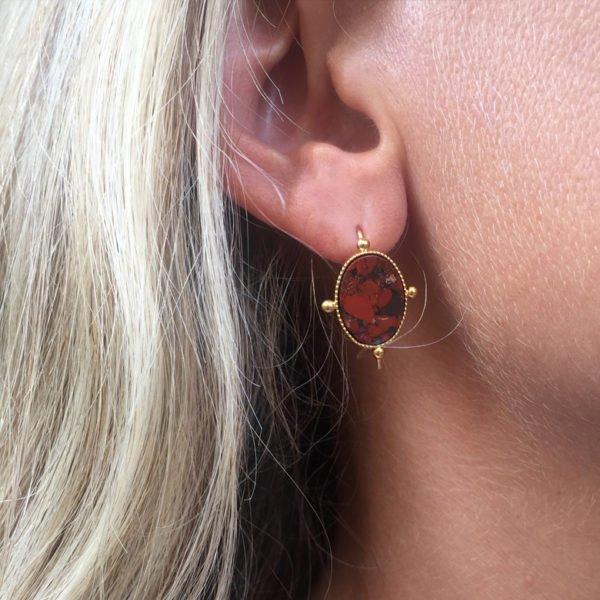 Boucles d'oreilles Aéla pépite bijoux photo portée