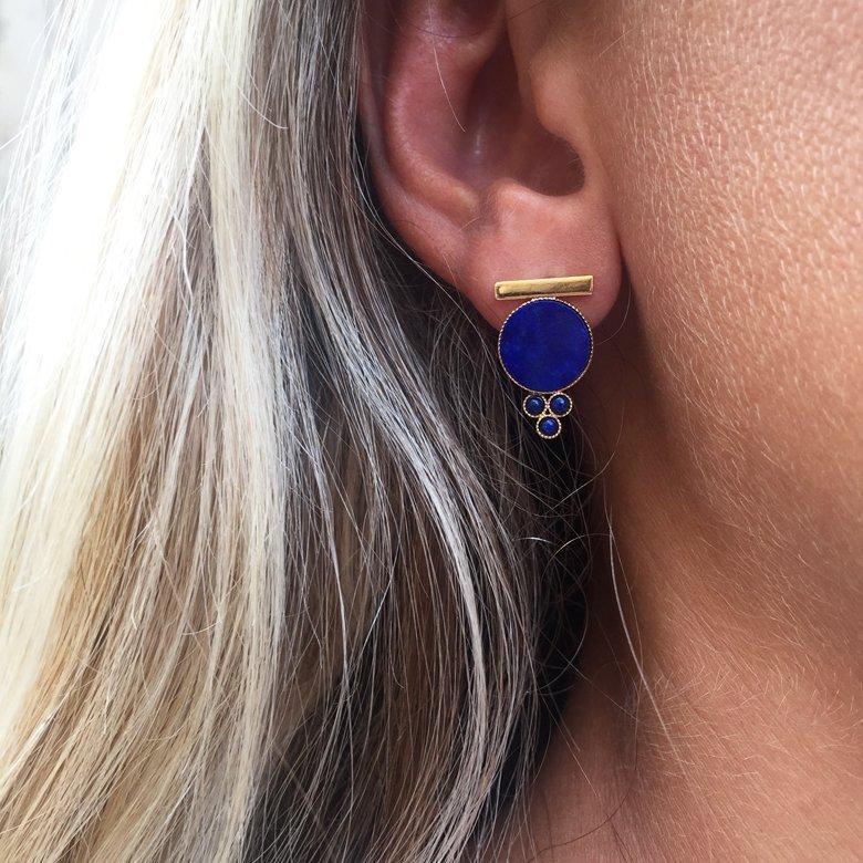 boucles d'oreilles Daly pépite bijoux photo portée