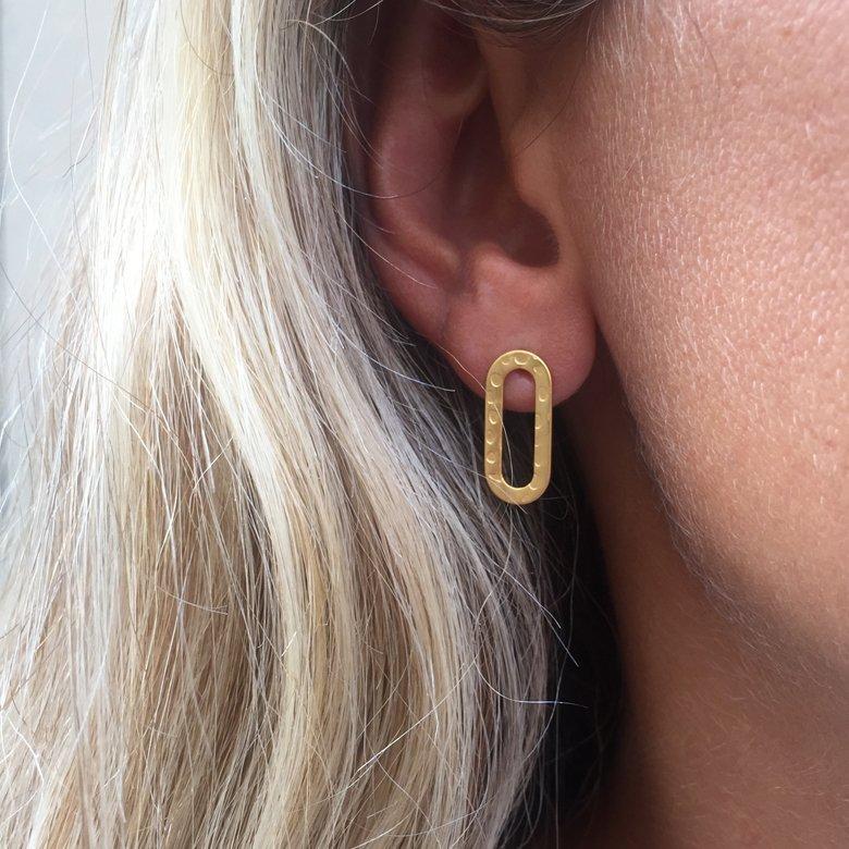 boucles d'oreilles maillon gourmette, boucles d'oreilles puces, puces d'oreilles, Puces d'oreilles maillon, rina
