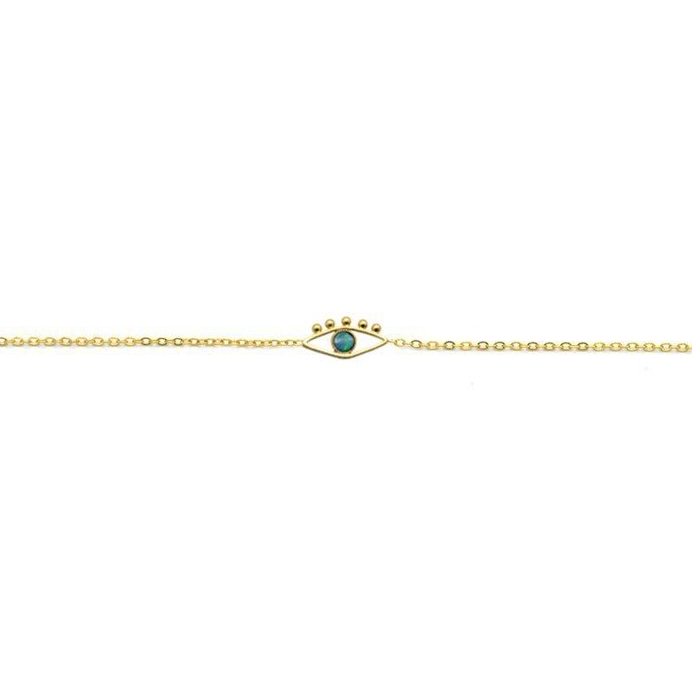 bracelet ajustable, bracelet avec pendentif oeil, bracelet pendentif, chaîne bracelet pendentif, chaîne pendentif, lior, opale