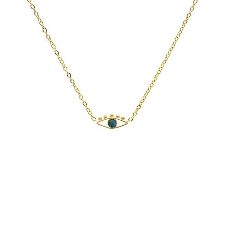 collier avec pendentif, collier avec pendentif oeil, lior, opale, pendentif oeil, ras de cou avec pendentif oeil, ras de cou pendentif