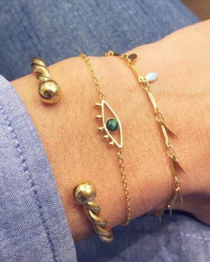 bracelet myosotis laurette lior photo portée
