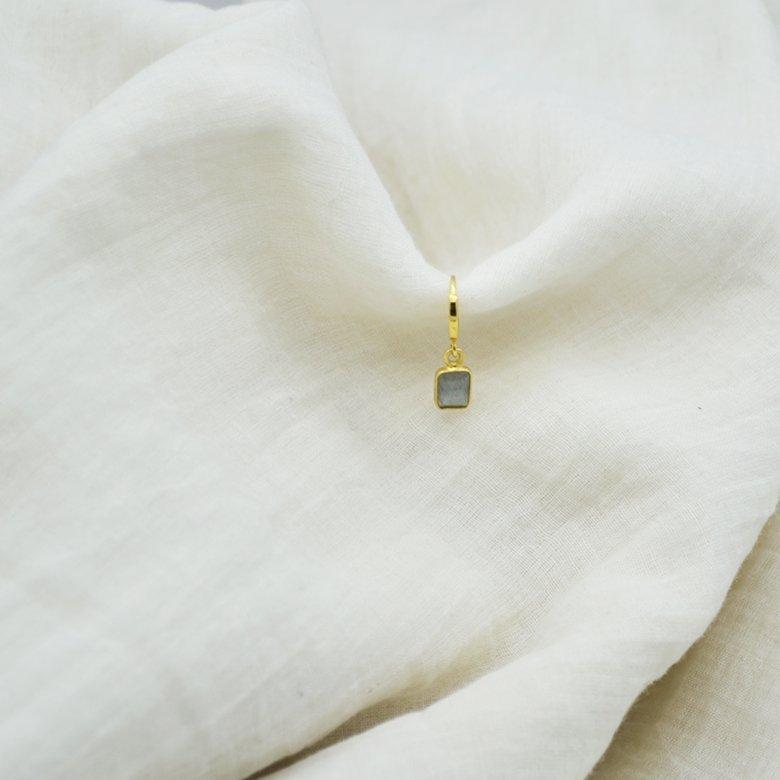 jess boucles d'oreilles pierre labradorite pépite bijoux