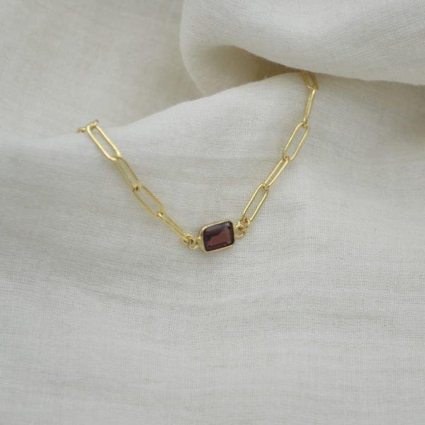 jess bracelet pierre grenat pépite bijoux