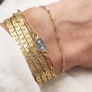 jess bracelet pierre labradorite pépite bijoux