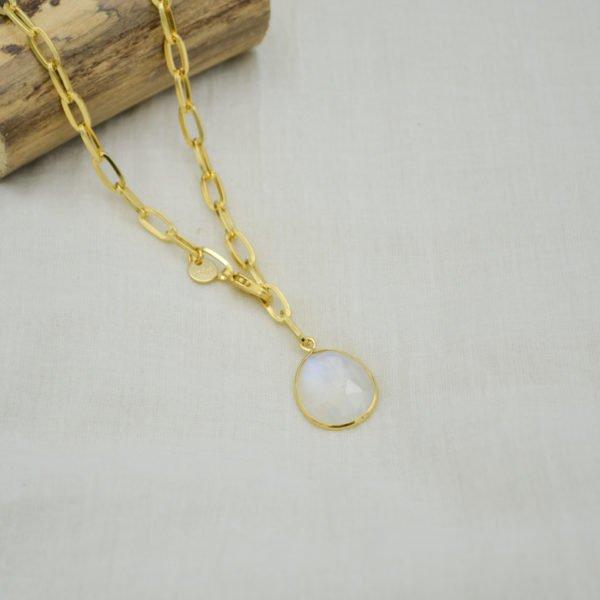 collier chloé pépite bijoux plaqué or