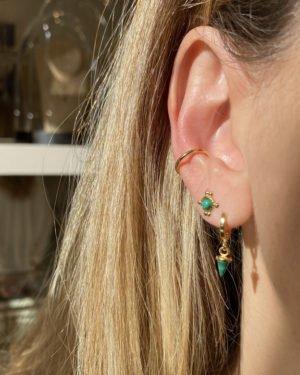 boucles d'oreilles,spike,pepite bijoux,plaqué or