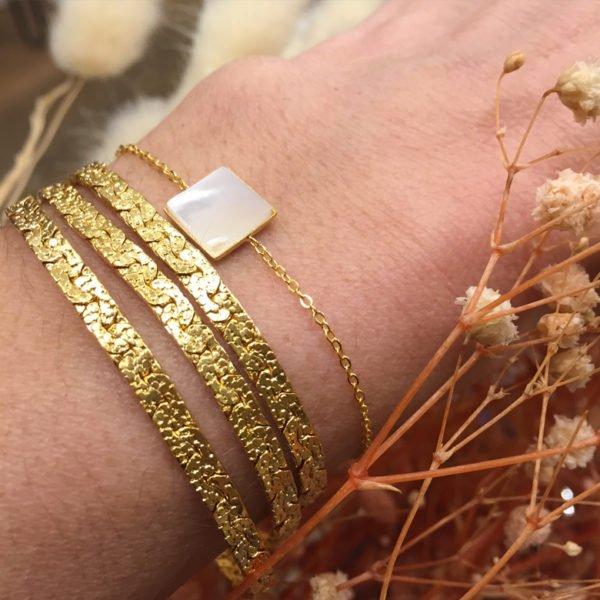 bracelet,indy,kaly,plaque or,pepite bijoux