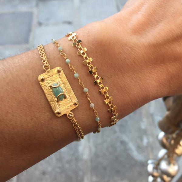 bracelet,elfes,delhi,dyva,plaqué or,pepite bijoux