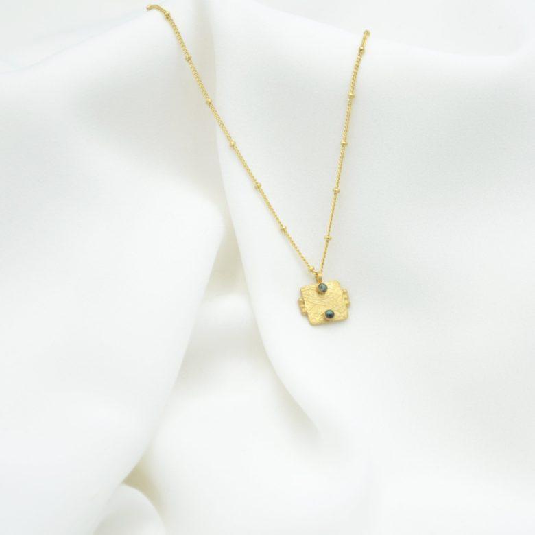 collier,arya,plaqué or
