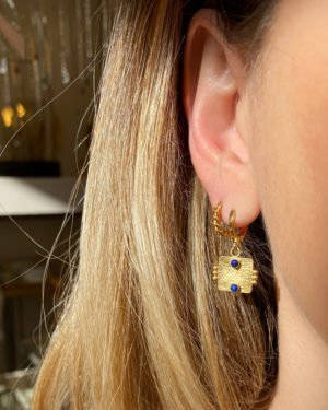 boucles d'oreilles,arya,plaqué or