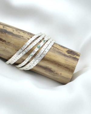 kaly, manchette,bracelet,pepite bijoux,jaspe africain,argenté
