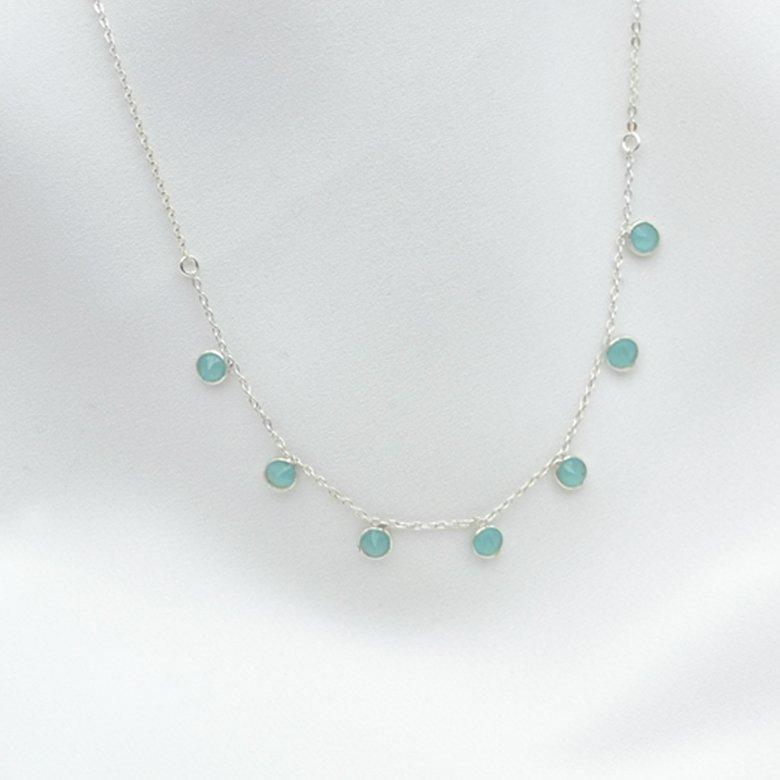 collier juliette calcedoine argent pepite bijoux