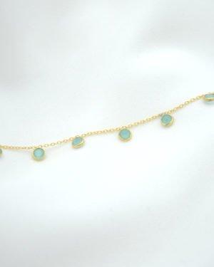 bracelet, juliette,calcedoine,plaque or, pepitebijoux