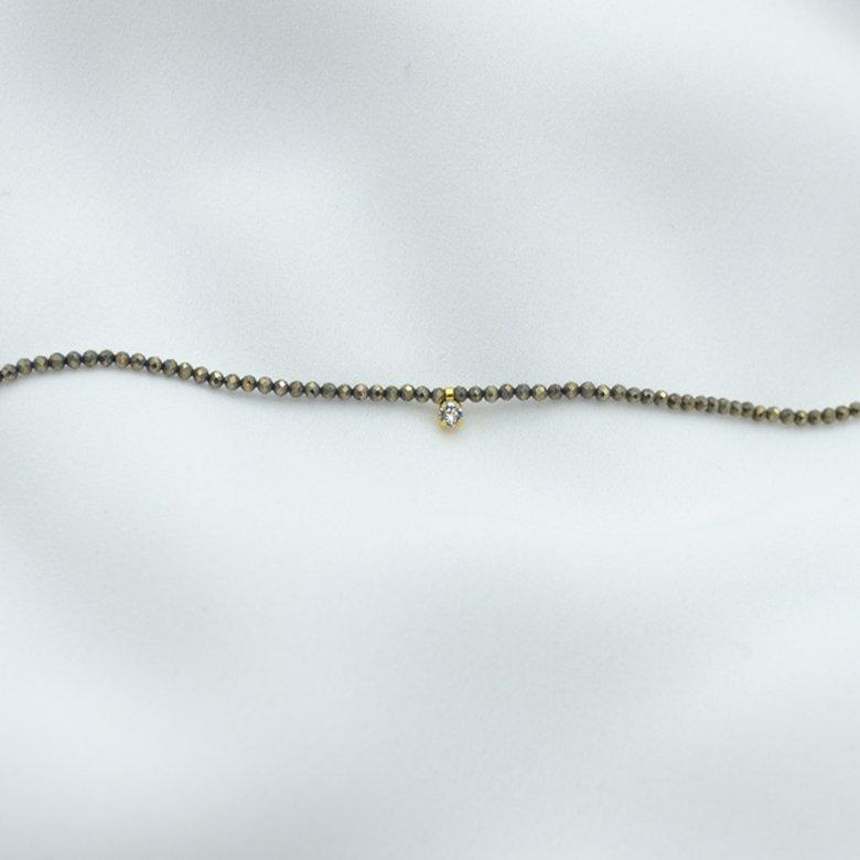 bracelet, naya, pyrite, strass ,pepite bijoux