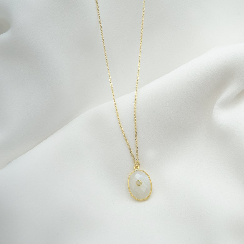 collier lola pdl labradorite plaque or pepite bijoux