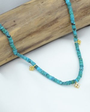 collier, massai, turquoise, strass, plaque or, pepite bijoux