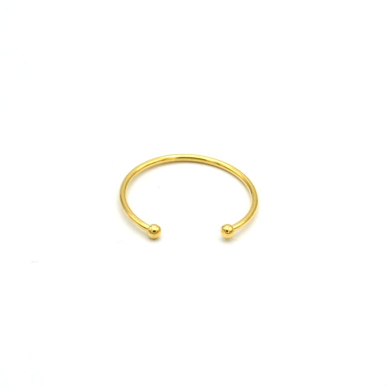 bague jonc,plaqué or,pépite bijoux