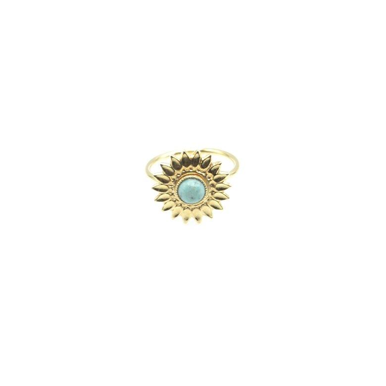 bague,sun,fleur,plaqué or,pépitebijoux,paris,french designer,creation française