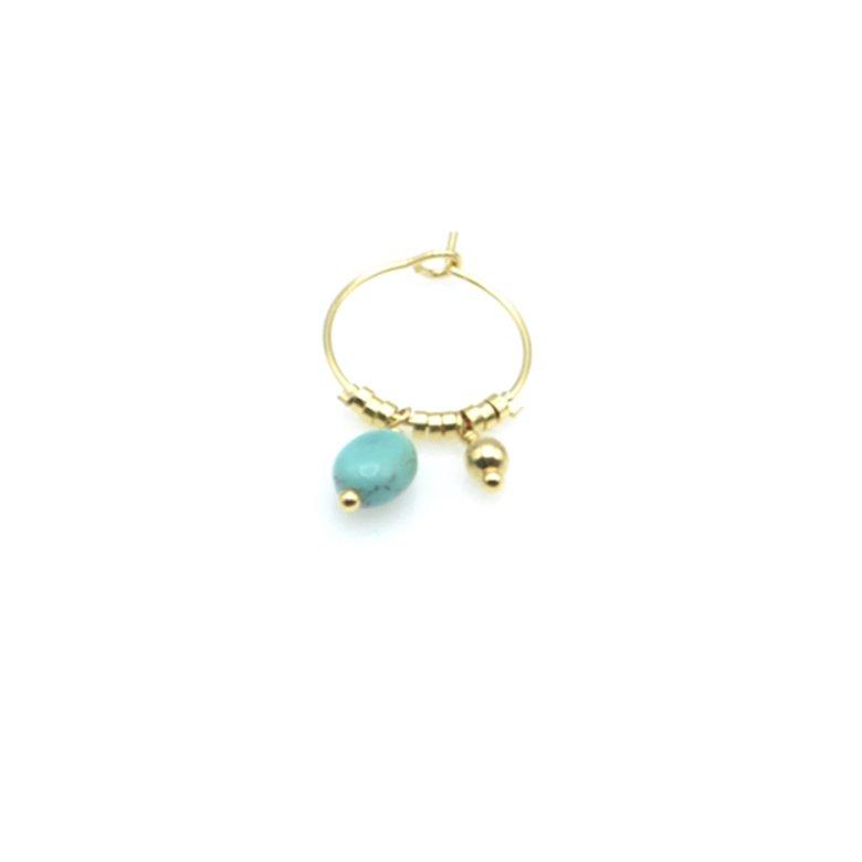 creole,unitée,plaqué or, gold,turquoise