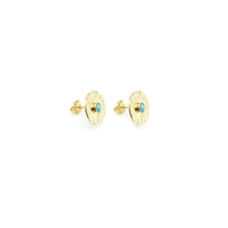margot,puces d'oreilles,turquoise