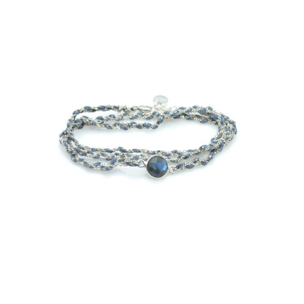 bracelet triple tours tresse labradorite agent