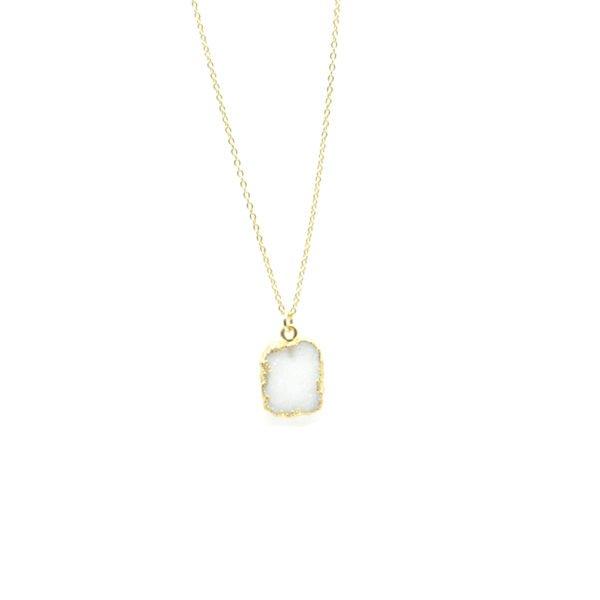 collier, drusy,plaqué or,paris,pépite bijoux