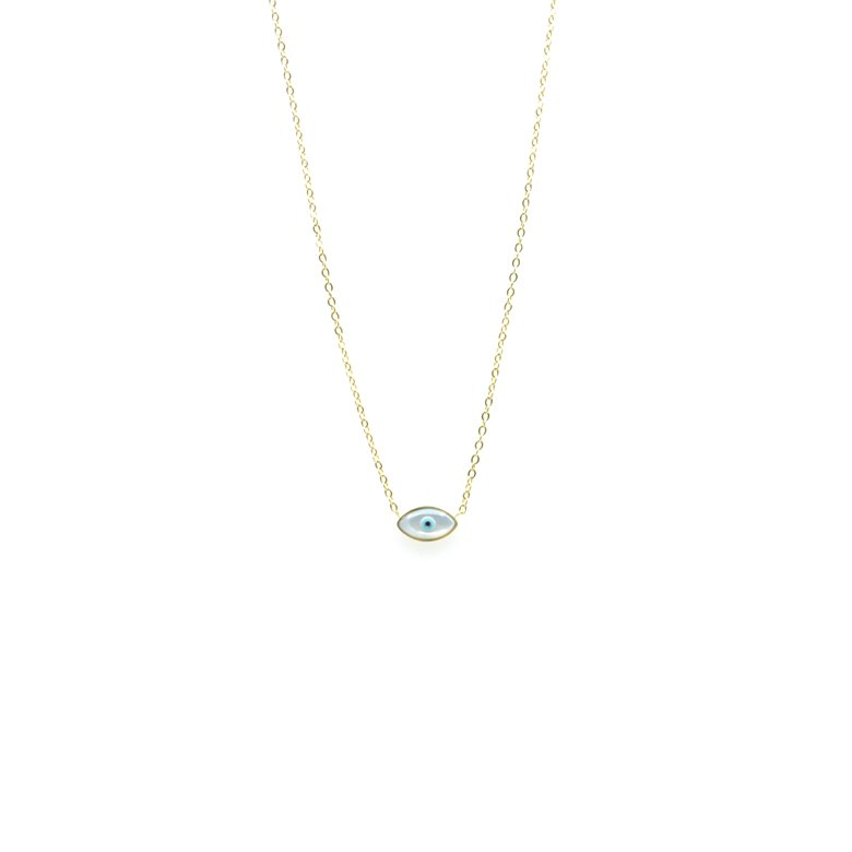 collier oeil grec, collier oeil, collier oeil bleu, collier mauvais oeil, collier femme, collier oeil plaqué or, collier oeil or