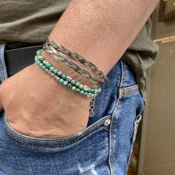 léo,DIEGO,bracelet,tresse,double tours,homme
