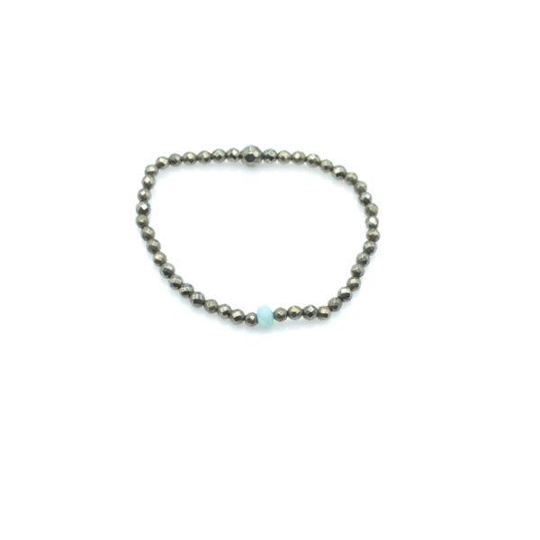 yan,bracelet,pyrite,argent,amazonite