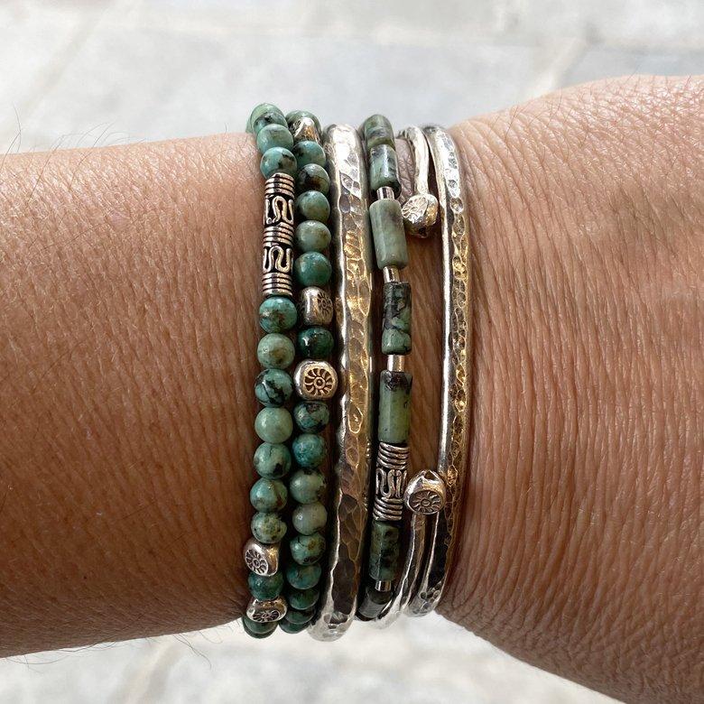 zen,bracelet,homme,photo portée,argent massif