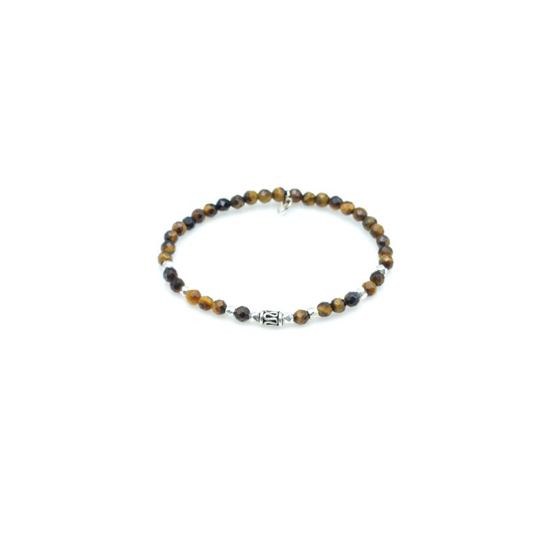will,bracelet,oeil de tigre,argent