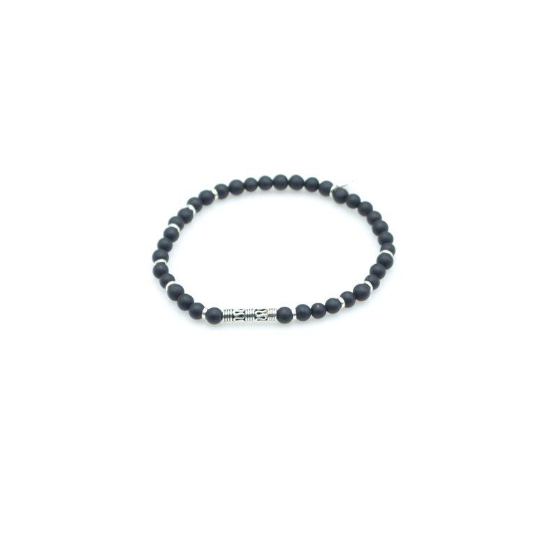 Bracelet de perles en agate noir, bracelet agate noir, bracelet pierre agate noir, bracelet perle agate noir homme, bijoux pour homme, bracelet pour homme, créateur de bijoux fantaisie paris